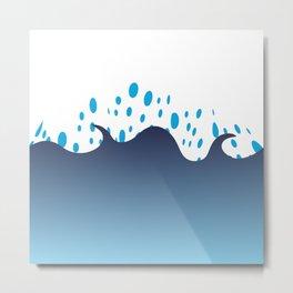 Bubbles in the Sea by FreddiJr Metal Print
