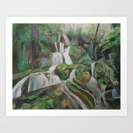 #26-Smoky Mountain Waterfalls Art Print