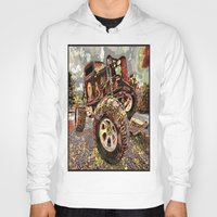 truck Hoodies featuring mud truck by Vector Art