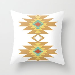 Southwest Santa Fe — Geometric Tribal Indian Abstract Pattern Throw Pillow