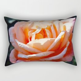 Peach Rose Rectangular Pillow