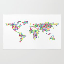 Tetris world (white one) Rug