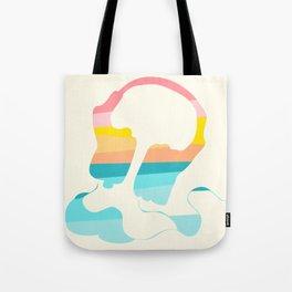 Headpones Rainbow Sunset Colors Tote Bag