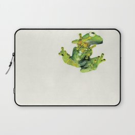 Frog on Glass Laptop Sleeve