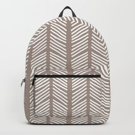 Hand Drawn Sketched Chevrons on Brown Backpack