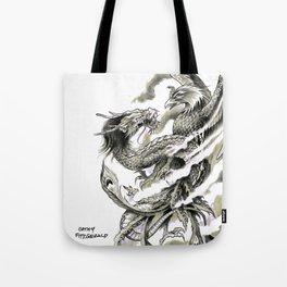Dragon Phoenix Tattoo Art Print Tote Bag
