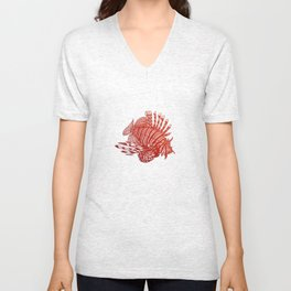 Red Lionfish - Beauty Is The Beast Unisex V-Neck