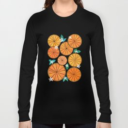 Orange Slices With Blossoms Long Sleeve T-shirt