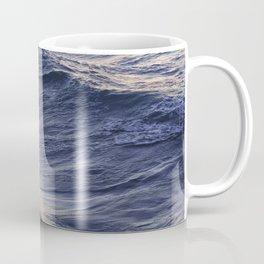 Sea waves lit by the evening sun Coffee Mug