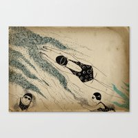 pool Canvas Prints featuring Pool by Agne Nananai