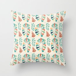 Bright loose florals Throw Pillow