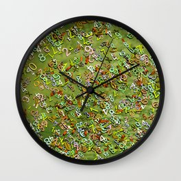 Numbers background Wall Clock