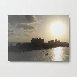 Atlantis Silhouette at Sunrise Metal Print