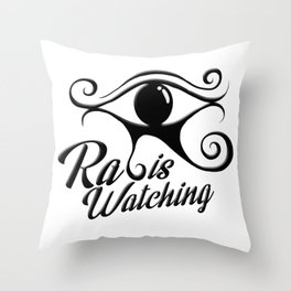 Ra is watching Throw Pillow