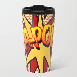 Comic Book Pop Art KA-POW Travel Mug