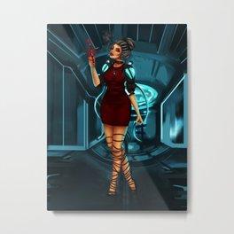 Cybernetic girl Metal Print