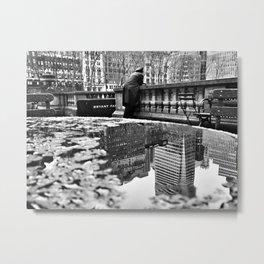 New York City Reflections Metal Print