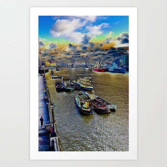 Thames Art View Art Print