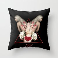 iggy azalea Throw Pillows featuring Iggy Azalea  by GraphicAllyCreative