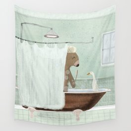 shower time Wall Tapestry