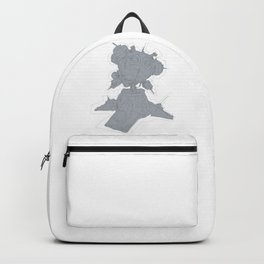 Turret Mech Robot Drawing Backpack