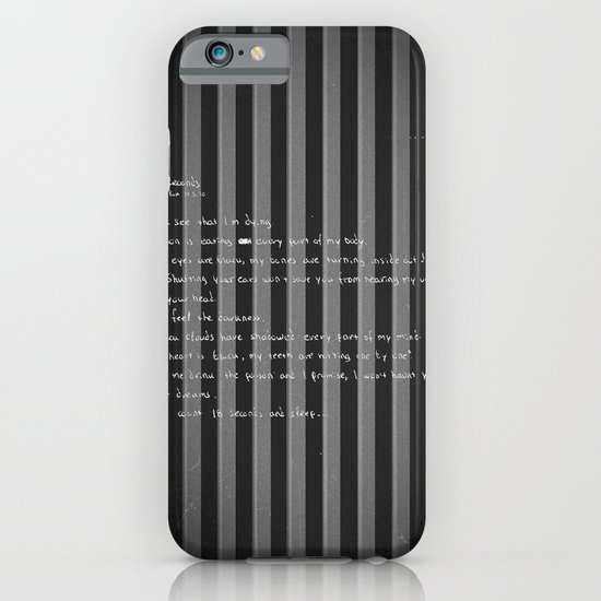 blackframe/18 seconds iPhone & iPod Case