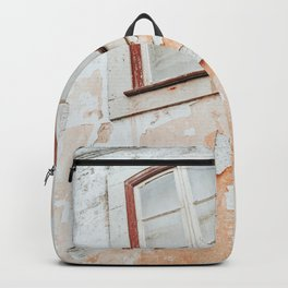 Old weathered window and wall Backpack