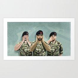Hear no War Art Print