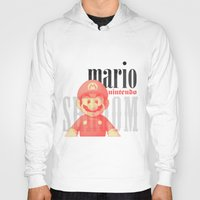 mario Hoodies featuring Mario by Thomas Official