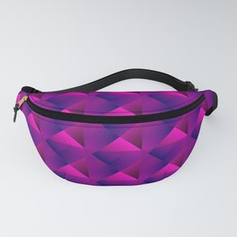 Optical pigtail rhombuses from pink squares in the violet. Fanny Pack