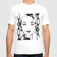 Black and white face ornament White MEDIUM Mens Fitted Tee
