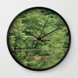 Hidden Bridge Wall Clock