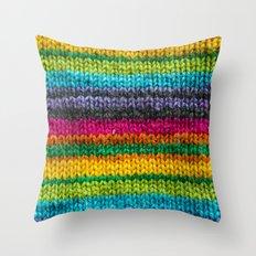 Rainbow In Wool Throw Pillow