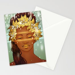 Poinsettia Portrait Stationery Cards