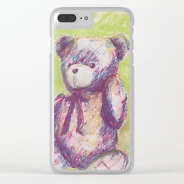 Hey Miste Bright Bear Clear iPhone Case