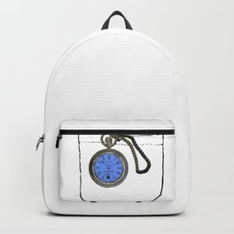 time lord pocket watch Backpack