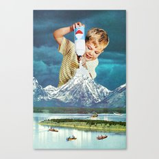 Snow Grey Canvas Print