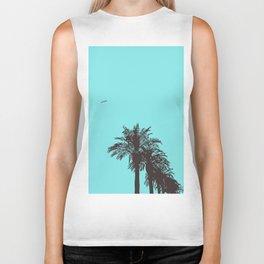 me love palm tree Biker Tank