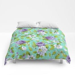 Hopeless Romantic - aqua version Comforters