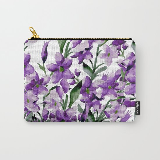 Lilac. Watercolor Carry-All Pouch
