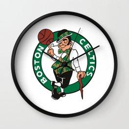 boston celtic Wall Clock
