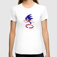 sonic T-shirts featuring Sonic by DROIDMONKEY