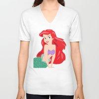 ariel V-neck T-shirts featuring Ariel by Lauren Lee Design's