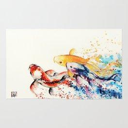 Underwater rainbow : the goldfishes Rug