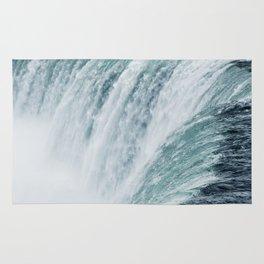 Landscape Photography   Niagara Falls   Waterfall   Aqua   Mist   Fog   Blue   Marine Rug
