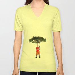 Warrior tree Unisex V-Neck
