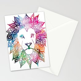 Rainbow Leo Stationery Cards
