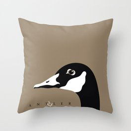 Canadian Goose on Taupe 2 Throw Pillow