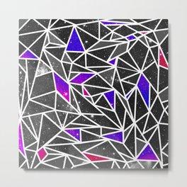 Starry Crystalline Space Pattern II Metal Print