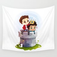 stiles Wall Tapestries featuring Hale Kingdom by siny